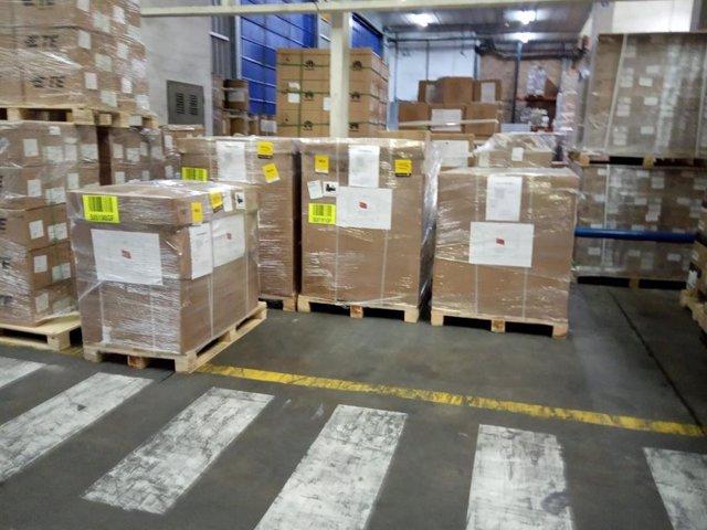 Respiradores enviados desde Turquía y adquiridos por Navarra, Castilla-La Mancha y Cataluña