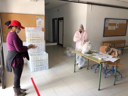 Ampliada la garantía alimentaria a otros 800 alumnos de Huelva en riesgo de exclusión