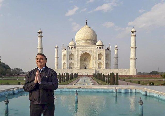 El presidente de Brasil, Jair Bolsonaro, durante un reciente viaje oficial a India.
