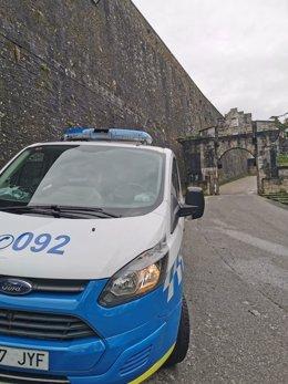 Vehículo de la Policía Municipal de Pamplona.