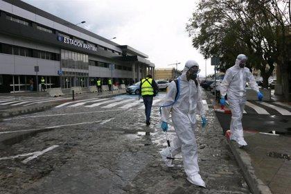 La UME actúa este jueves en la desinfección del puerto de Málaga y el Hospital de la Axarquía
