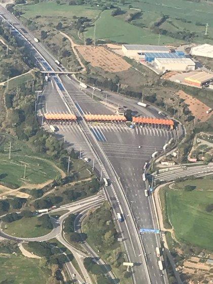El tráfico de salida de Barcelona baja casi un 17% respecto al pasado jueves