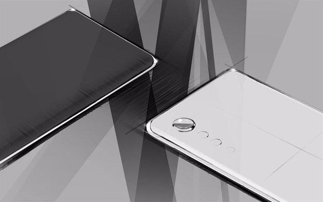 LG presenta su nuevo diseño de 'smartphone' con pantalla curva y cámara con form