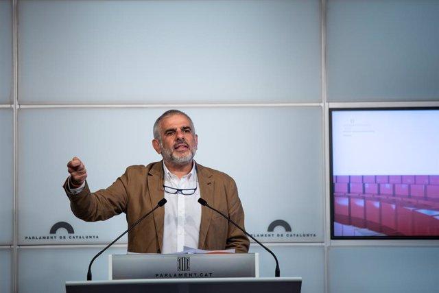 El president de Ciutadans en el Parlament, Carlos Carrizosa