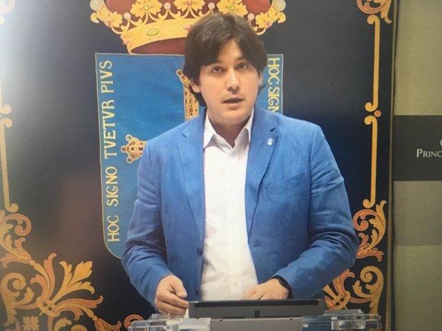 Rueda de prensa telemática del consejero de Ciencia, Innovación y Universidad del Principado, Borja Sánchez