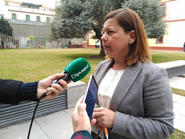 La portavoz de Cs en la Diputación de Sevilla, Carmen Santa María