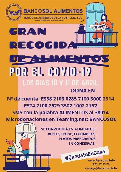 Bancosol realiza este viernes y sábado una gran recogida virtual por el coronavirus