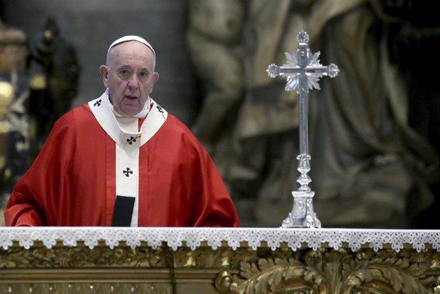 El Papa en la misa del Domingo de Ramos