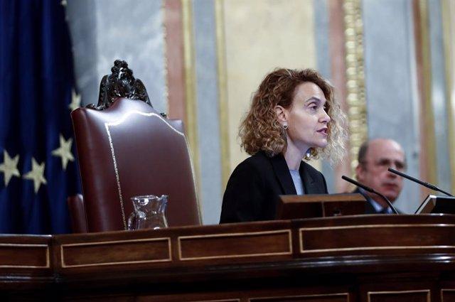 La presidenta del Congreso de los Diputados, Meritxell Batet.