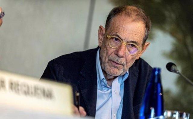 El exministro Javier Solana en una imagen de principios de marzo, antes de ser hospitalizado.