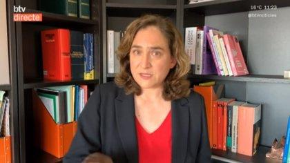 Ada Colau estima que Barcelona ha dejado de ingresar 200 millones por el coronavirus