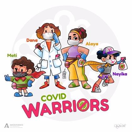 El IAM impulsa los cómic y recortables 'COVID Warriors' para informar y motivar ante el virus