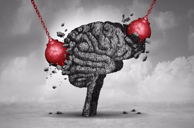 Daños en el cerebro.