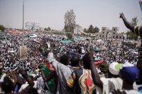 Protesta en Jartum pidiendo un gobierno civil