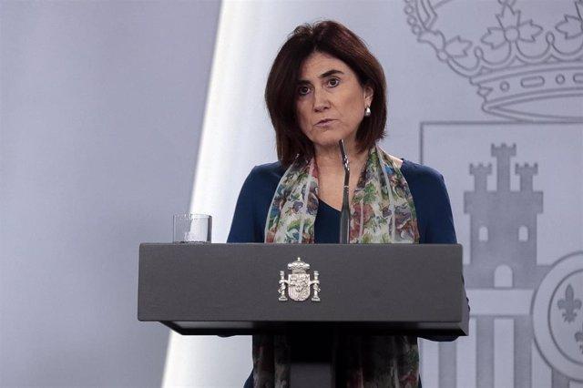Intervención en rueda de prensa de María José Sierra, jefa de Área del Centro de Coordinación de Alertas y Emergencias Sanitarias del Ministerio de Sanidad, tras la reunión del Comité de Gestión Técnica del Coronavirus. 3 de abril de 2020.