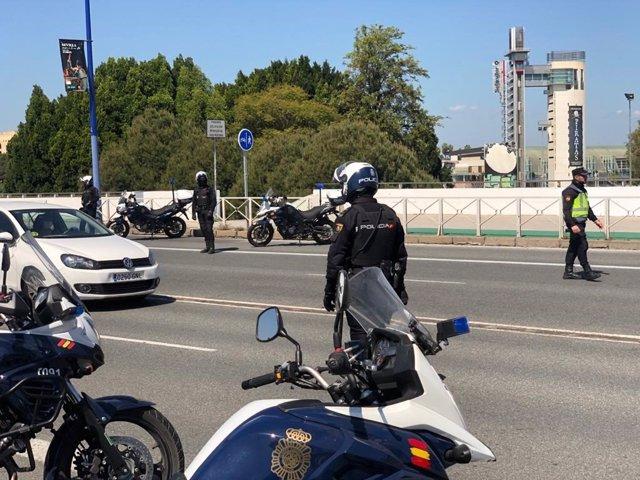Controles policiales en Sevilla