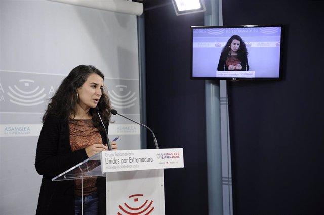 Imagen de archivo de Irene de Miguel en una rueda de prensa