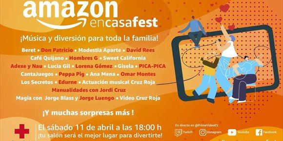 1. Amazon convoca el sábado un concierto gratis y online en beneficio de Cruz Roja