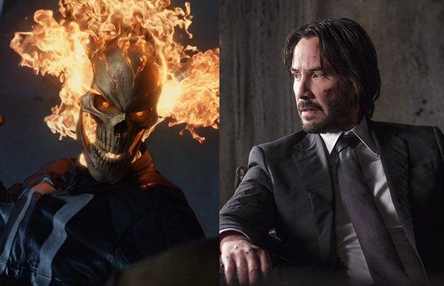 Keanu Reeves es el nuevo Ghost Rider del Universo Marvel en un brutal fan tráiler