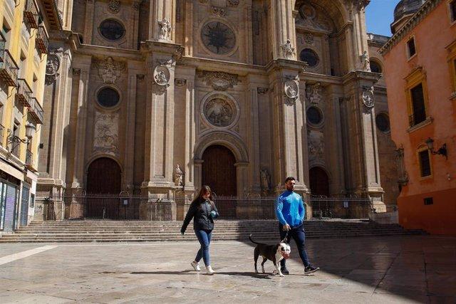 El entorno de la Catedral de Granada.
