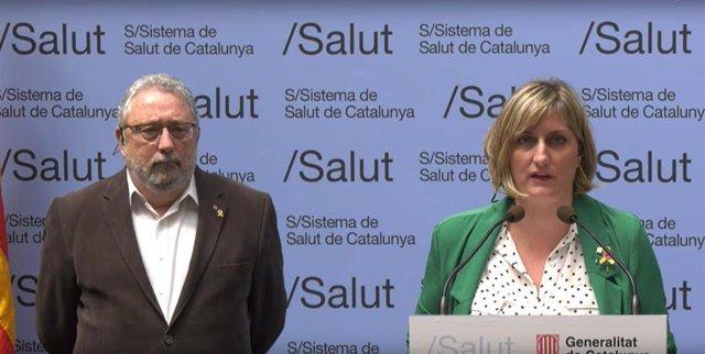 Rueda de prensa telemática de la consellera de Salud de la Generalitat, Alba Vergés, y el secretario de Salud Pública, Joan Guix, el 11/4/2020, sobre coronavirus