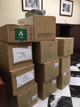 La Junta de Andalucía entrega 18.600 mascarillas a la Diputación de Córdoba imagen de archivo