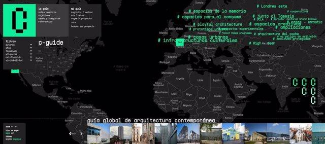 Portada de la web de acesso a la Guía Global de Arquitectura Contemporánea.