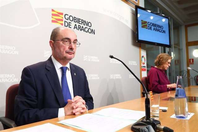 El Presidente de Aragón, Javier Lambán, comparece en rueda de prensa