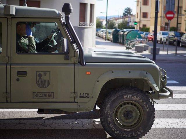 Cádiz.- Coronavirus.- Las Fuerzas Armadas entregan comida a quienes más lo neces