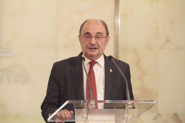 El presidente del Gobierno de Aragón, Javier Lambán