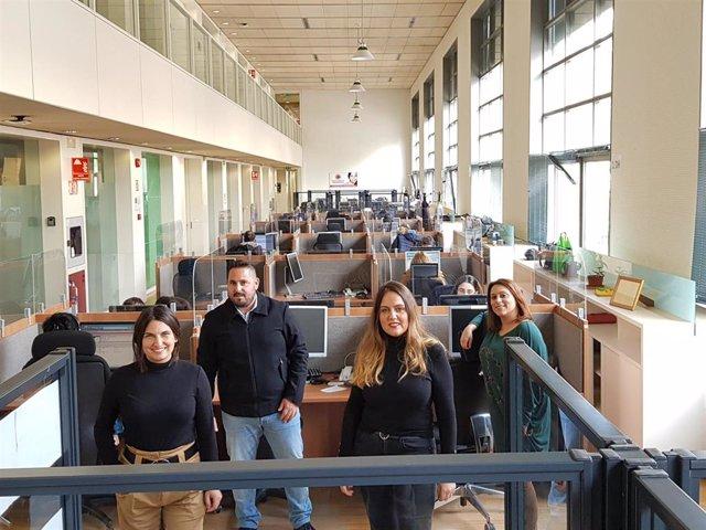 Trabajadores del Servicio Andaluz de Teleasistencia en una imagen de archivo