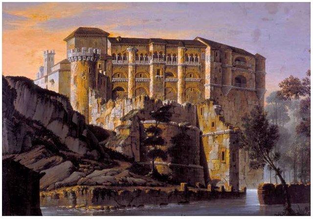 Cuadro del Castillo de Benavente adquirido en subasta pública por el CEB Ledo del Pozo.