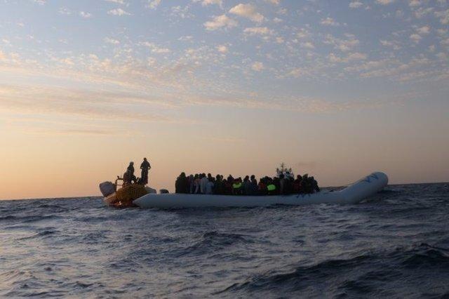 Rescate de migrantes en el Mediterráneo