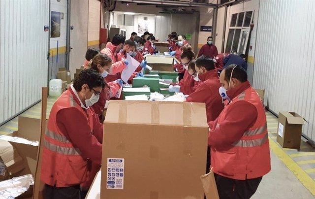 Recepción y entrega de material sanitario en Cantabria
