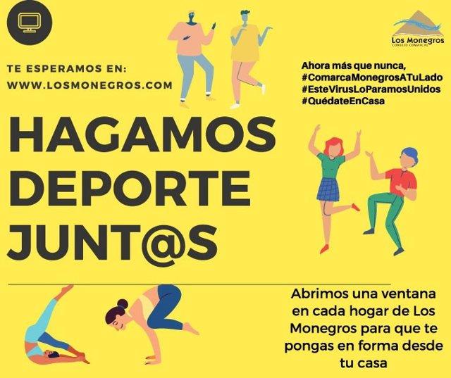 Cartel de deporte Comarca de Los Monegros