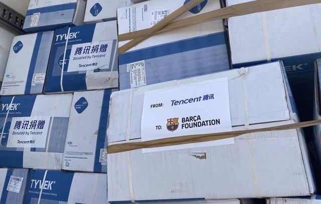 Varios equipos de protección individual gestionados por la Fundación Bara.