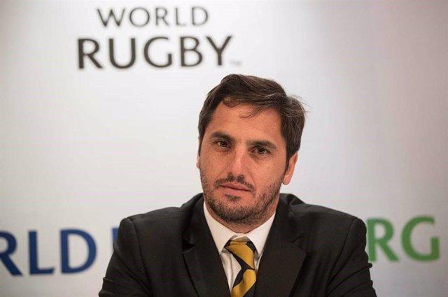Agustín Pichot, en su etapa como vicepresidente de World Rugby.