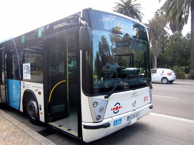 Autobús de la EMT Empresa Malagueña de Transportes en una imagen de archivo