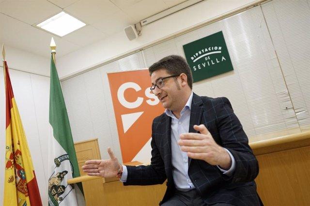 Manuel Benjumea, portavoz adjunto de Ciudadanos en la Diputación de Sevilla