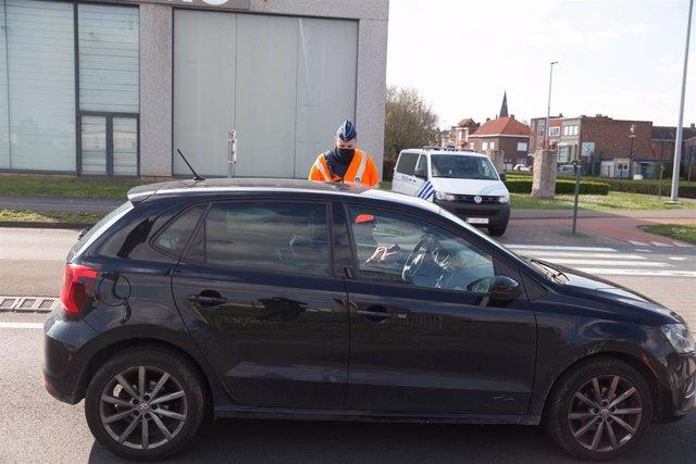 Un control de Policía en Bélgica