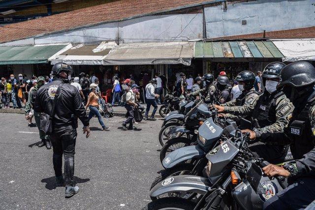 Fuerzas especiales de la Policía Nacional Bolivariana (PNB) de Venezuela (Imagen de archivo)