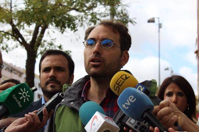 El coordinador general de IU Andalucía y portavoz de Adelante Andalucía, Toni Valero, en una foto de archivo.