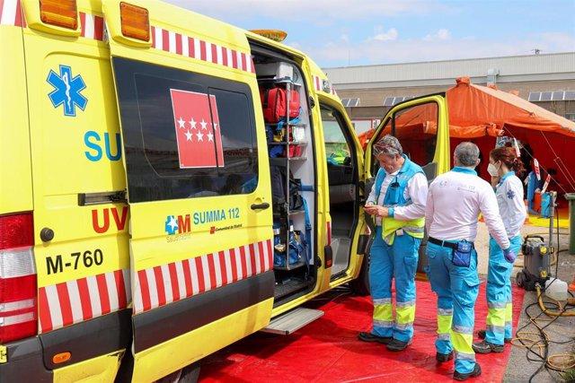 Ambulancia de Soporte Vital Avanzado (UVI móvil) del SUMMA 112.