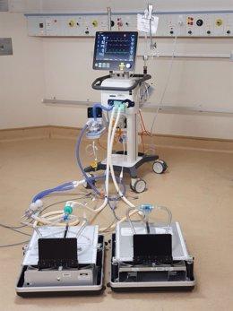 Ventilador mecánico para dos pacientes