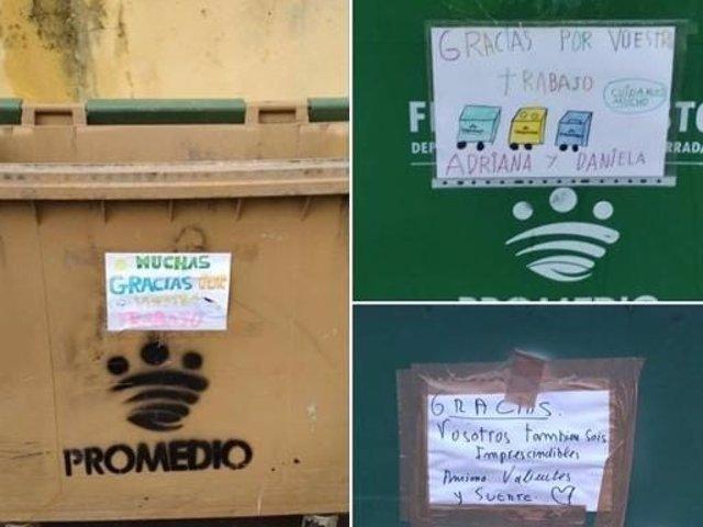 Campaña de la Diputación de Badajoz en contenedores de basura