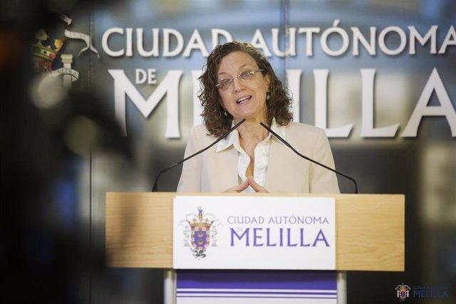 Gloria Rojas, vicepresidente primera de la Ciudad de Melilla