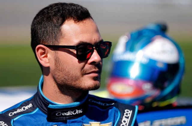 El piloto estadounidense de la NASCAR Kyle Larson