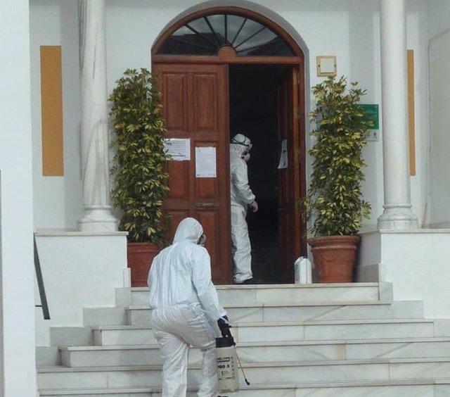 Desinfección en las dependencias municipales de Líjar (Almería)