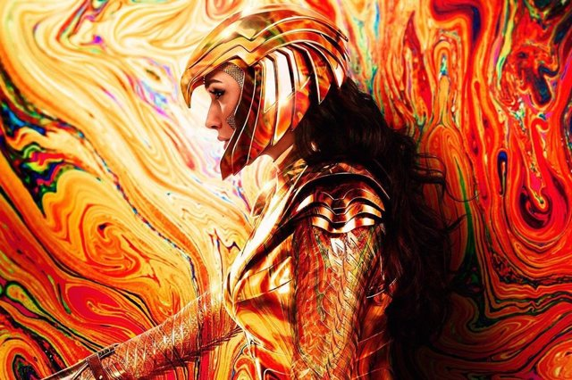 Gal Gadot en un cartel de Wonder Woman 1984