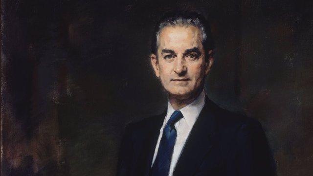 Retrato de Landelino Lavilla en el Congreso